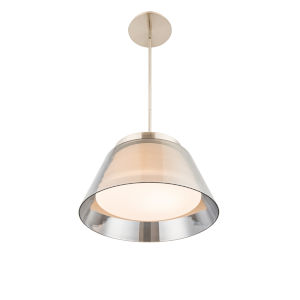Chic Brushed Nickel 15-Inch LED Pendant