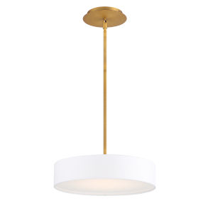 Manhattan Aged Brass 14-Inch LED Pendant