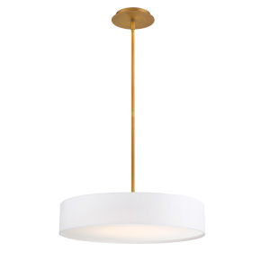 Manhattan Aged Brass 20-Inch LED Pendant