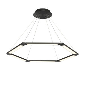 Lune Black Six-Light LED Pendant