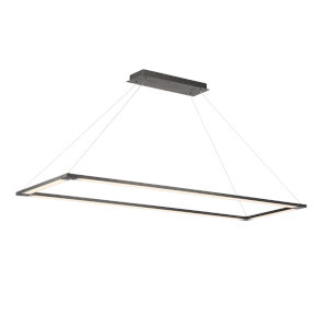 Lune Black Four-Light LED Pendant