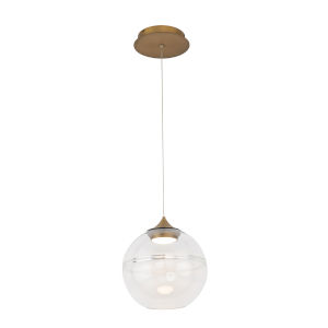 Bistro Aged Brass 10-Inch LED Pendant