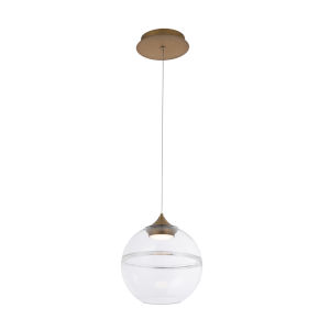 Bistro Aged Brass 14-Inch LED Pendant