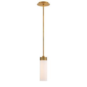 Elementum Aged Brass Four-Inch 3500K LED Mini Pendant