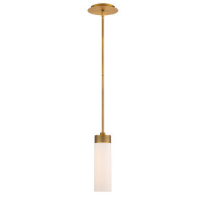 Elementum Aged Brass Four-Inch 3000K LED Mini Pendant