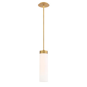 Elementum Aged Brass Five-Inch 2700K LED Mini Pendant