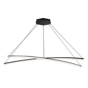 Radius Black 55-Inch LED Pendant