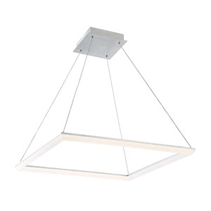 Frame Brushed Aluminum 28-Inch LED Pendant