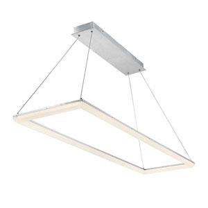 Frame Brushed Aluminum 58-Inch LED Pendant