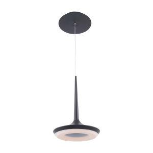Enterprise Black Eight-Inch LED Mini Pendant