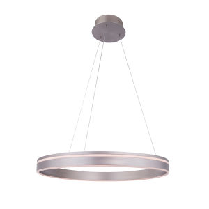 Voyager Satin Nickel 23-Inch LED Pendant