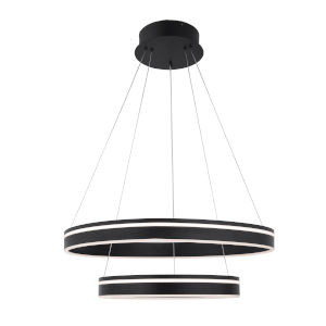Voyager Black 23-Inch Two-Light LED Pendant