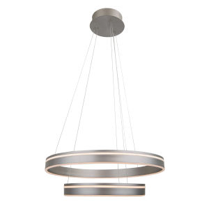 Voyager Satin Nickel 23-Inch Two-Light LED Pendant