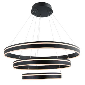 Voyager Black 32-Inch Three-Light LED Pendant