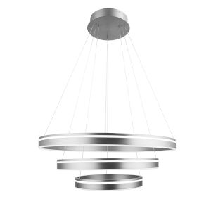 Voyager Satin Nickel 32-Inch Three-Light LED Pendant