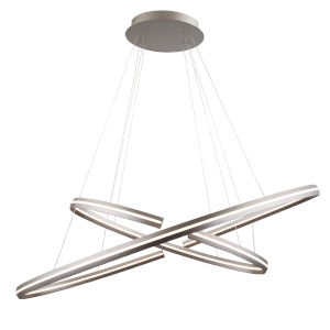 Orbit Satin Nickel 24-Inch Two-Light LED Pendant