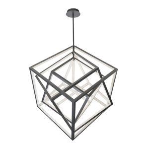 Atlas Black 35-Inch LED Chandelier