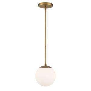 Niveous Aged Brass Seven-Inch 2700K LED Mini Pendant