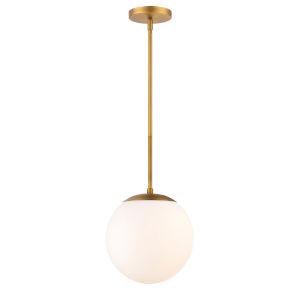 Niveous Aged Brass 10-Inch 3000K LED Pendant