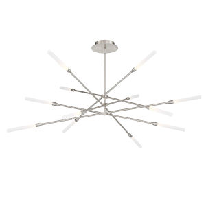 Houdini Brushed Nickel 47-Inch 12-Light LED Chandelier