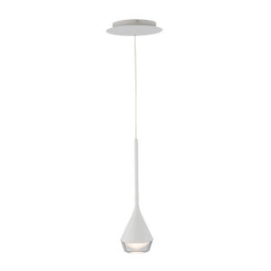 Blast Off White Four-Inch LED Mini Pendant