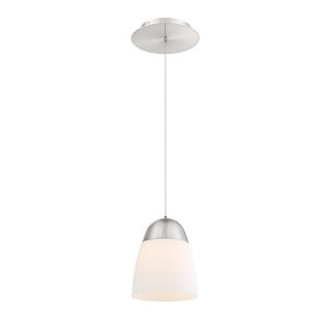 Dimple Brushed Nickel Seven-Inch LED Mini Pendant