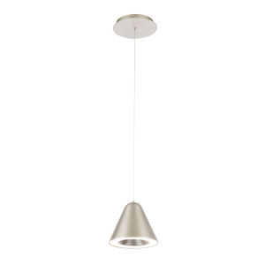 Kone Satin Nickel LED Mini Pendant