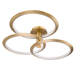 Solaris Aged Brass 40-Inch Three-Light LED Pendant