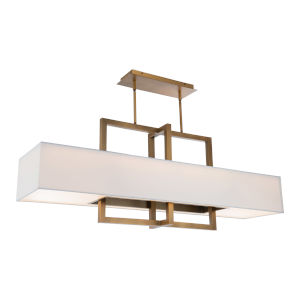 Madison Aged Brass LED Linear Pendant