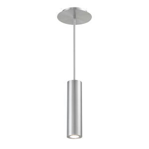 Caliber Brushed Aluminum Three-Inch LED Outdoor Mini Pendant