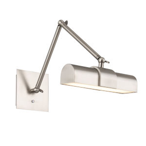 Piano Brushed Nickel LED Picture Light