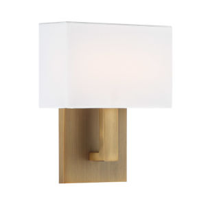 Manhattan Aged Brass Seven-Inch 2700K LED Wall Sconce