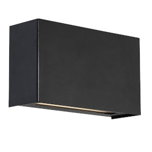 Blok Black Four-Inch Two-Light 3000K LED Wall Sconce with Emergency Backup Battery