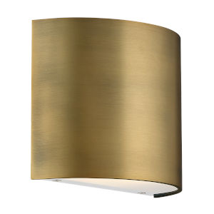 Pocket Aged Brass Three-Inch LED Wall Sconce