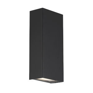 Blok Black Three-Inch 3000K LED Vertical Wall Sconce with Emergency Backup Battery