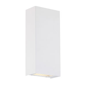 Blok White Three-Inch 3000K LED Vertical Wall Sconce with Emergency Backup Battery