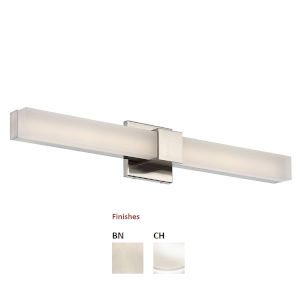 Esprit  Chrome 26-Inch 3000K Two-Light LED Bath Bar Light