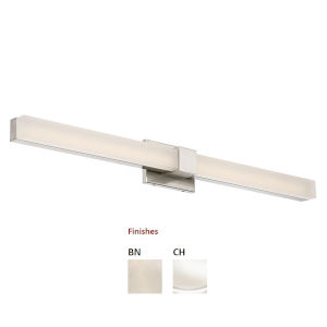 Esprit  Chrome 38-Inch 3000K Two-Light LED Bath Bar Light