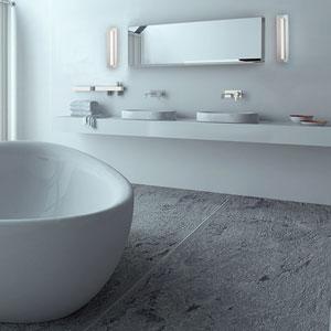 Wedge Brushed Aluminum 18-Inch LED Bath Vanity