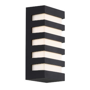 Folsom Black 10-Inch 3000K LED Outdoor Wall Sconce