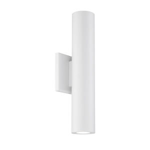 Caliber White Four-Inch Two-Light LED Outdoor Wall Sconce