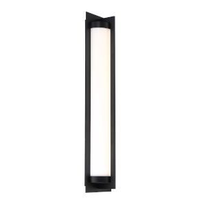 Oberon Black Four-Inch LED Outdoor Wall Sconce