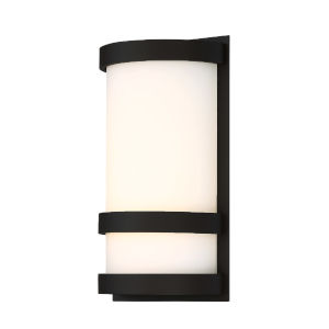 Latitude Black 10-Inch 3000K LED Outdoor Wall Sconce