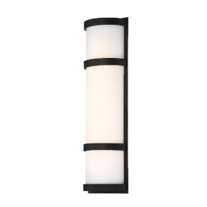 Latitude Black 20-Inch 3000K LED Outdoor Wall Sconce