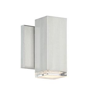 Block Brushed Aluminum Six-Inch LED Wall Light