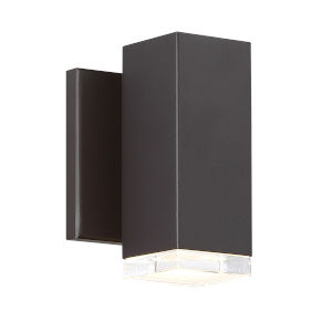 Block Bronze Four-Inch 3000K LED Outdoor Wall Sconce