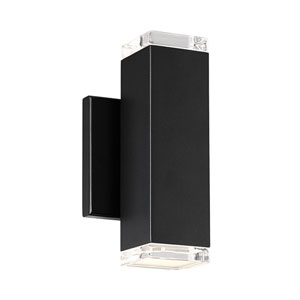 Block Black Eight-Inch LED Wall Light