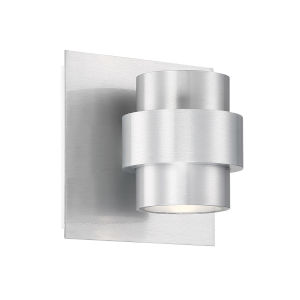 Barrel Brushed Aluminum Four-Inch LED Outdoor Wall Sconce