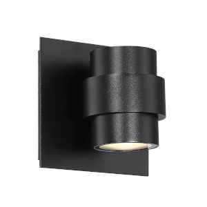 Barrel Black Four-Inch LED Outdoor Wall Sconce