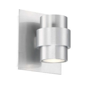 Barrel Brushed Aluminum Five-Inch LED Outdoor Wall Sconce